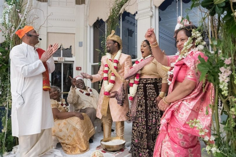 Dijita and Marcus wedding party